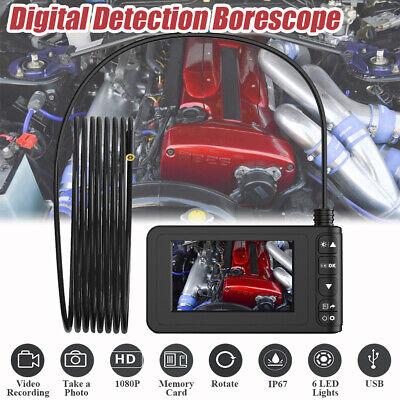 3m Lcd 6 Led 4.3 Hd 1080p Digital Endoscope Borescope Inspection Video Camera