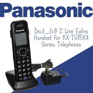 NEW Panasonic KXTGA950B Dect_6.0 2 Line Extra Handset for KX-TG95XX Series Telephones Condtion: New