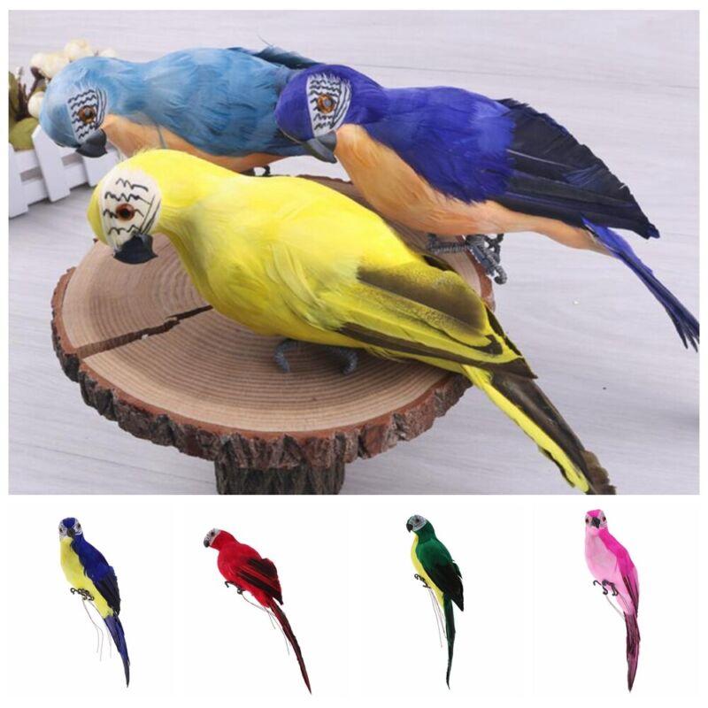 With Clip Lawn Yard Ornament Feather Miniature Simulation Bird Animal Figurine
