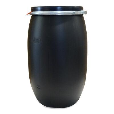 120 Liter Fass Wasserfass Gartenfass Plastikfass Farbe schwarz NEU & UNBENUTZT