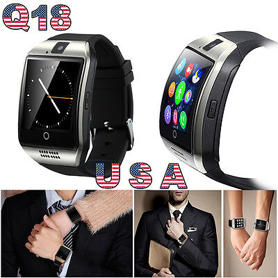 Q18 Bluetooth Smart Wrist-watch Phone with Touch Screen SIM Camera For Android IOS