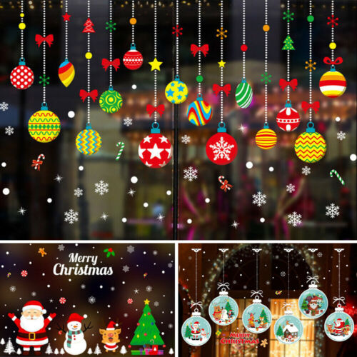 Home Decoration - Christmas Gift Wreath Wall Window Stickers Decals XMAS Home Shop Decoration DIY