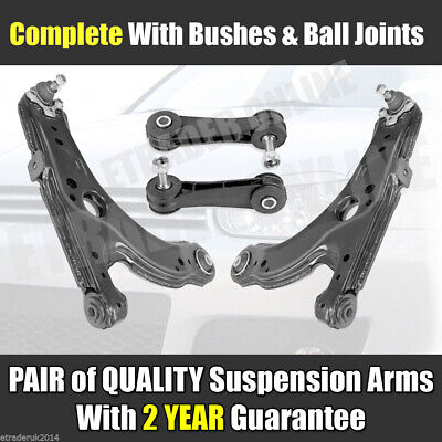 VW GOLF MK4 WISHBONES FRONT 2 LOWER SUSPENSION ARMS C/W BALL JOINTS & DROP LINKS