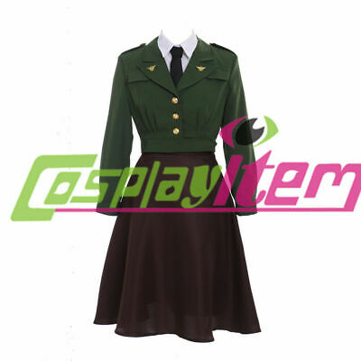 Carter Uniform - captain america agent carter uniform dress peggy carter cosplay costume dress
