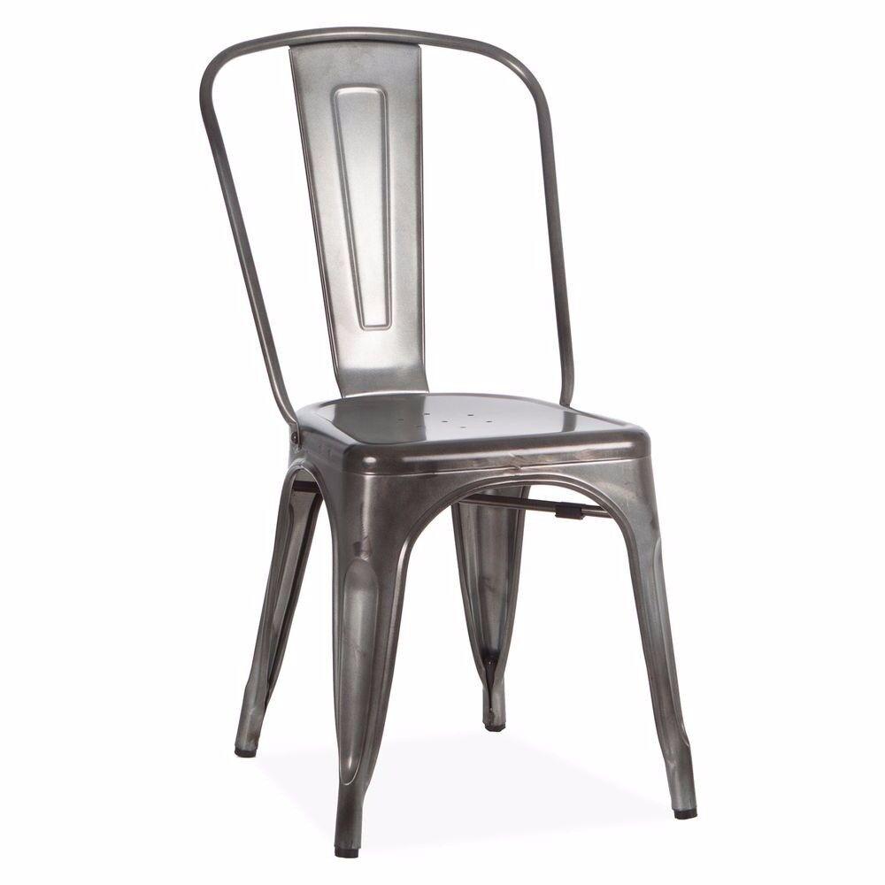 4 Black Retro Chairs NEW
