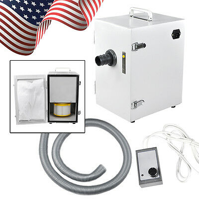 Portable Dental Lab Digital Dust Collector Vacuum Cleaner Machine Single-row Usa