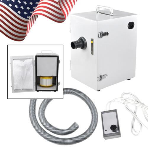 Portable Dental Lab Digital Dust Collector Vacuum Cleaner Machine Single-Row USA