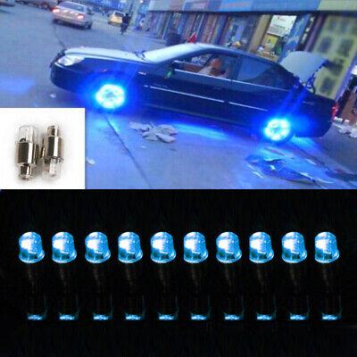 8pcs LED Tyre Valve Cap Wheel Tire  Blue Neon Light For Car Motorcycle Bike AG10