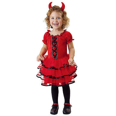 2-4 years girls red FRILLY LIL' DEVIL Halloween Costume layered tutu - Devil Tutu Halloween Costume