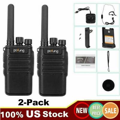2 Pack Long Range Walkie Talkie 50 Mile Two Way Radio Charge Waterproof US