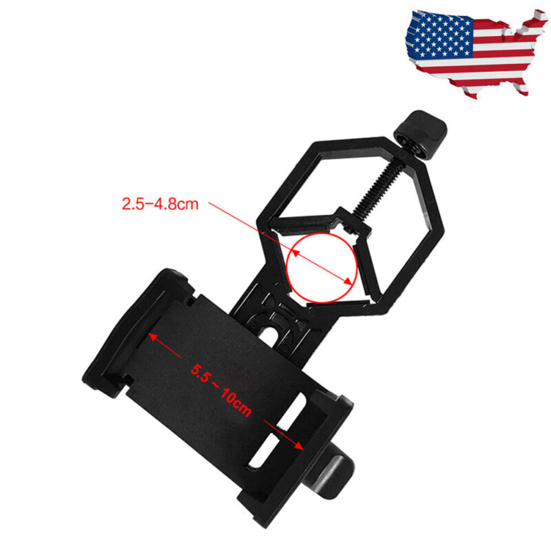 NEW Universal Telescope Cell Phone Mount Adapter for Monocular Spotting Scope US