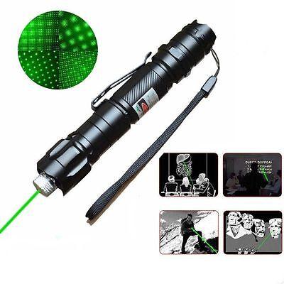 High Power Green Laser Pointer Pen 10 Mile Range 532nm Visible Beam Lazer Light