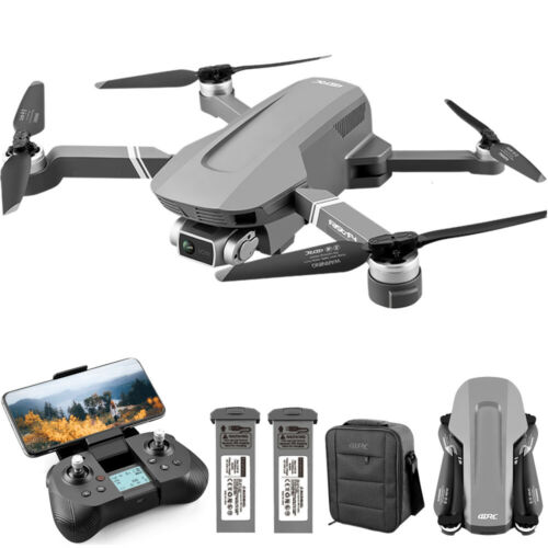 4K GPS RC Drones with HD Camera Foldable Quadcopters Battery+bag Brushless Motor