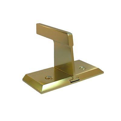 Patio Sliding Door Wall Barricade Brace NIGHTLOCK Bright Brass Security Lock ()