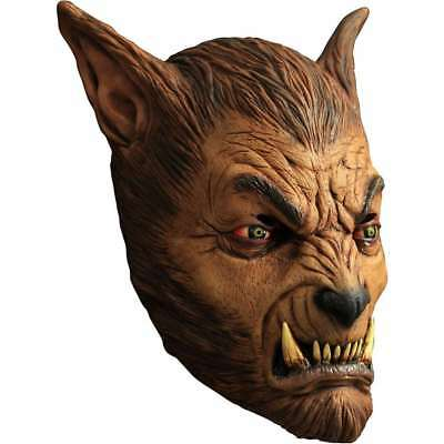 Brown Wolf Mask (Werewolf Wolfman Ghoulish DELUXE ADULT LATEX BROWN BEAST WOLF)