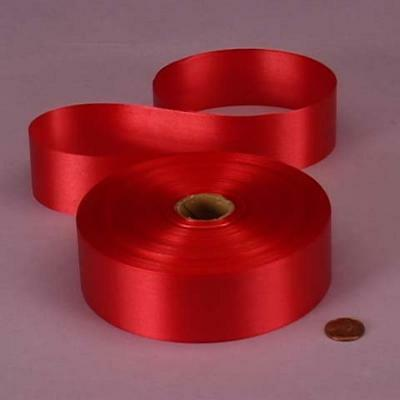 Red Embossed Poly Satin Ribbon, 4433730, New, Free (Embossed Ribbon)
