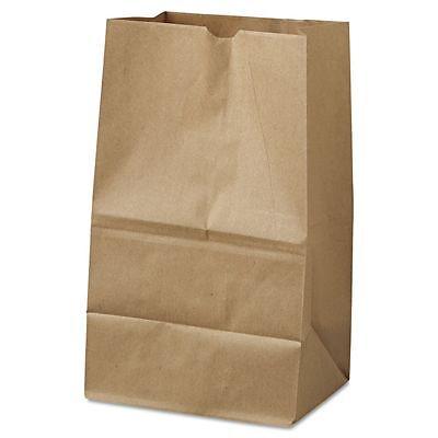 General #20 Squat Brown Paper Grocery Bags - BAGGK20S500