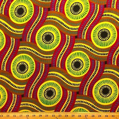 African Print Fabric 100% Cotton 44'' wide sold by the yard Serpent (90116-2)