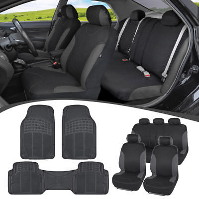 Car SUV Seat Covers for Auto & Heavy Duty Rubber Floor Mats - Full Interior - 2003 Toyota 4runner Seat Covers