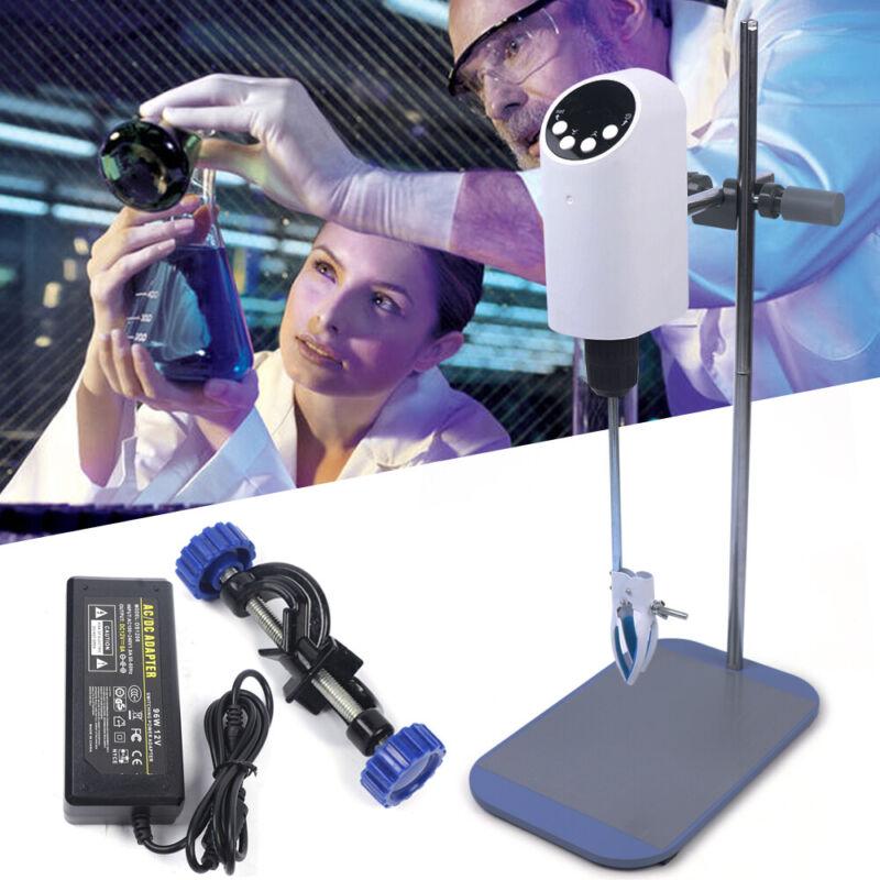 20L Lab Electric Overhead Stirrer Mixer Agitator Homogenizer Digital Chemical US