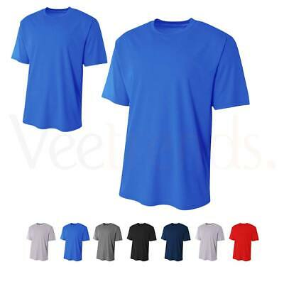 A4 Men's Moisture Wicking Short Sleeve T-Shirt, N3234, XS-3XL Clothing, Shoes & Accessories