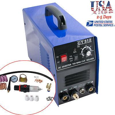 3 In 1 Ct312 Tigmmacut Air Plasma Cutter Welder Welding Torch Machine 60hz Ac