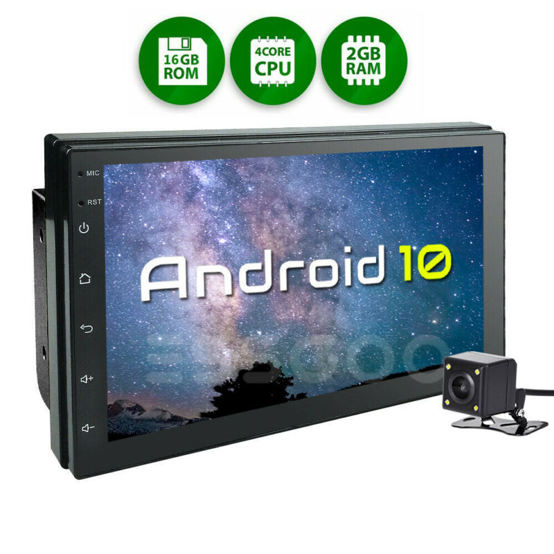7 Inch Android 10 Car Stereo GPS Radio Player Audio 2 Din WIFI USB 2+16GB Camera