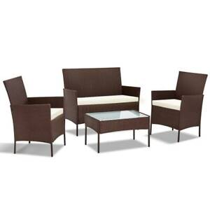 Outdoor Lounge/Patio Setting Rattan 4 Piece with Cover 3 Colours Kings Beach Caloundra Area Preview