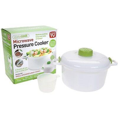 2.8L Steam Pot Turbo Microwave Pressure Cooker Steamer Rice Pasta Meat Vegetable