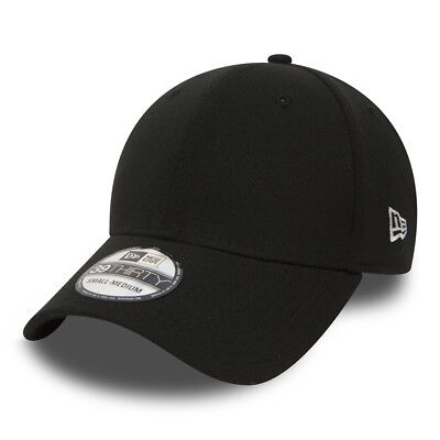 NEW ERA MENS 39THIRTY BASEBALL CAP.CURVED VISOR 6 PANEL STRETCH FIT BLACK HAT 91