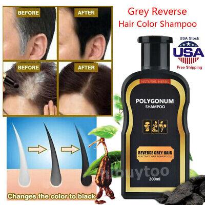 Hair Darkening Shampoo Bar Gray Hair Reverse Natural Polygonum Essence Care USA