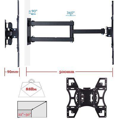 Full Motion TV Wall Mount Tilt Swivel 40 42 46 50 55 65 inch LED LCD Flat Screen