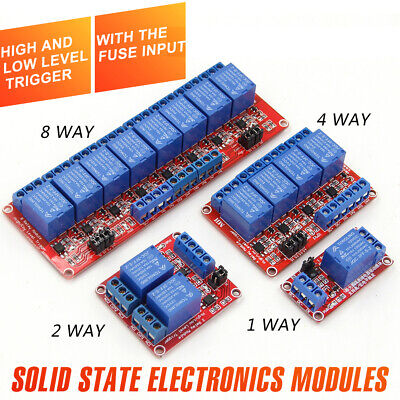 5v Or 12v 1-2-4-8 Channel Relay High Low Level Optocoupler Module For Arduino Pi