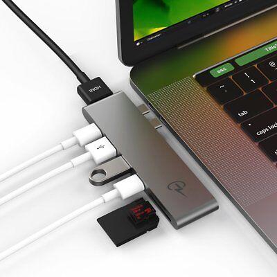 CharJenPro Adapter USB C HUB Macbook Pro 18-16 TB 3 5K@60Hz, USB, HDMI, Micro/SD