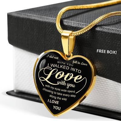 To My Girlfriend Heart Necklace - Best Gift For