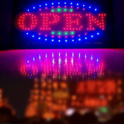 Bright Flash Illuminated Led Open Light Business Sign Board Outdoor Store Bar Us