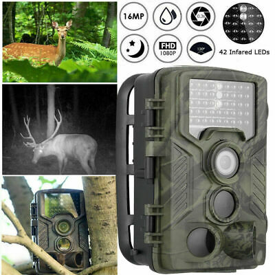 Hunting Trail Camera 16MP HD 1080P PIR IR Wildlife Scouting Cam Night Vision uk*