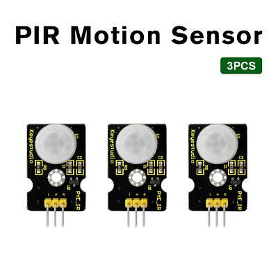 3pcs Keyestudio Hc-sr501 Infrared Pir Motion Sensor Detector Module For Arduino