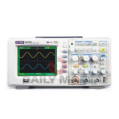 Brand New Atten Ads1042c Digital Oscilloscope 40mhz 2 Channels 500msas