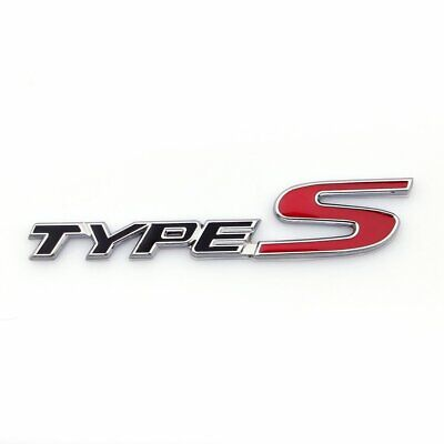 Acura Type S Side Rear Metal Badge Logo Emblem TL TLX TSX RSX CL w/ Adhesive