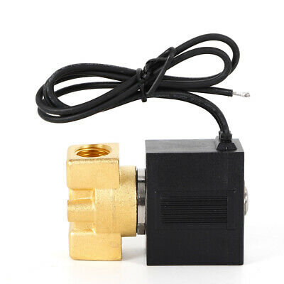 Brass 14 Electric Solenoid Valve Pneumatic Valve For Water Oil Air Gas 0-145ps