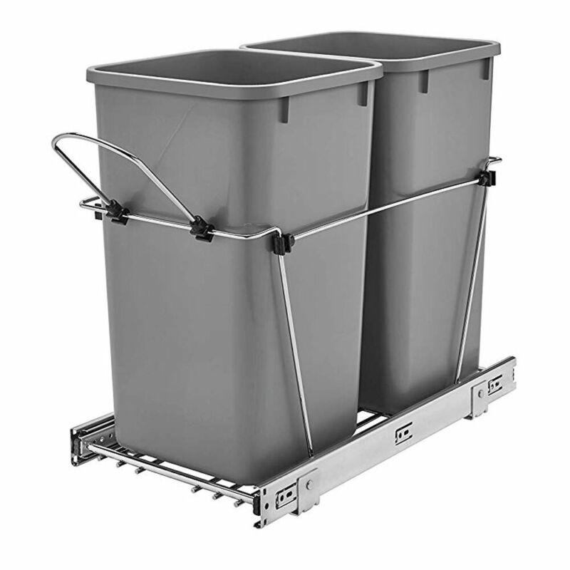 Rev-A-Shelf RV-15KD-17C S Double 27-Qt Cabinet Pullout Waste Container(Open Box)