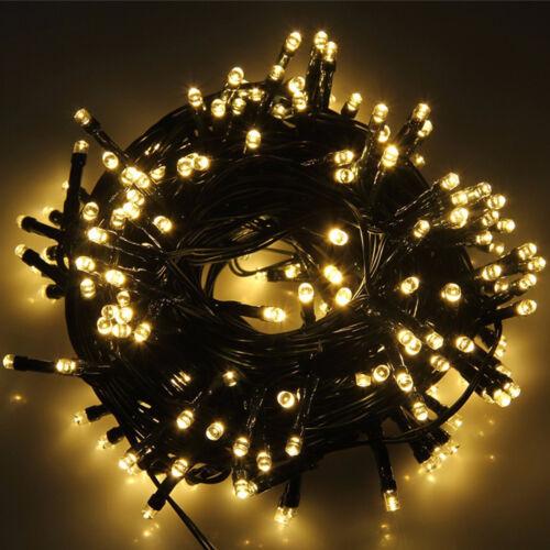 Weihnachts Lichterkette 200/300 LED Innen Außen Beleuchtung Party Fernbedienung