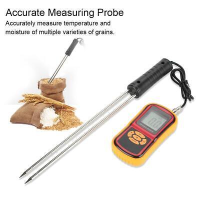 Grain Moisture Temperature Meter Tester Measuring Ricebarleywheatfeedcorn