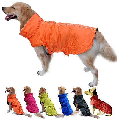 Waterproof Big Pet Dog Jacket Outdoor Rain Coat Raincoat Fleece Reflective Safe