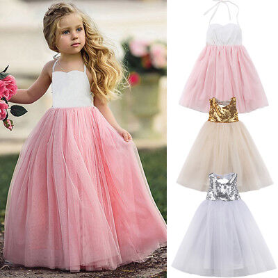 Toddlers Tutu Dress (Flower Girl Princess Dress Kids Baby Party Wedding Bridesmaid Tulle Tutu)