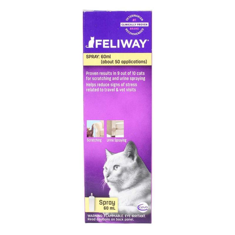 Feliway Spray 60 Ml Cat Feline Stress Behavior Relief Urine
