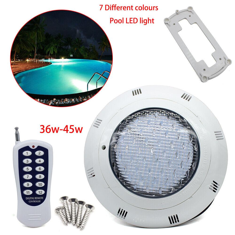 36W/45W LED Underwater Swimming Pool SPA RGB Light IP68+remote ...