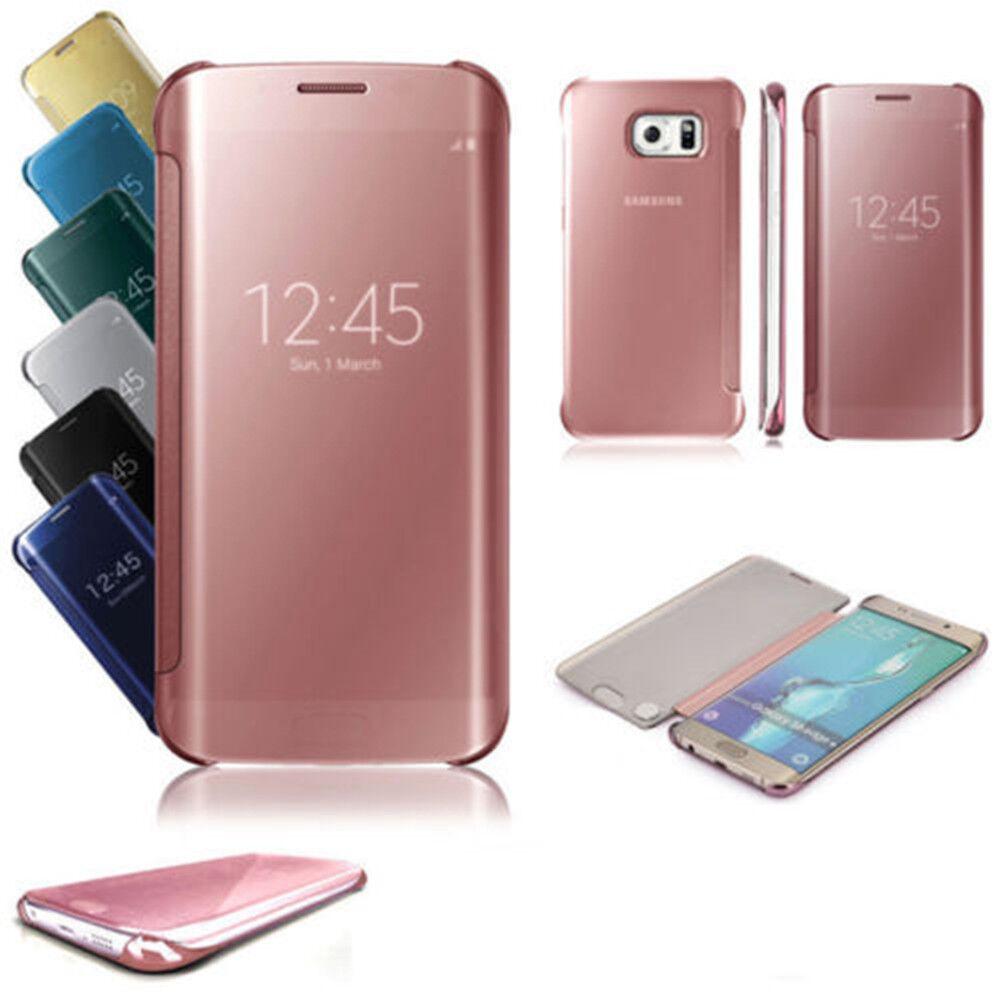 for-samsung-galaxy-s10-e-j4-j6-a7-a8-luxury-touch-mirror-smart-flip-phone-case