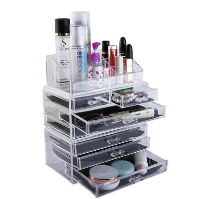 Acrylic Cosmetic Organizer Storage Drawers Boxes Case Makeup Jewellery Nail Rack